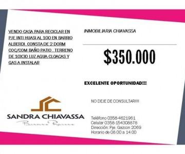 vendo casa en Rio Cuarto
